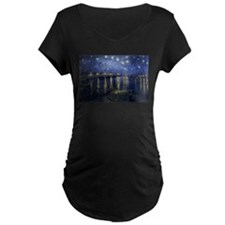 Starry_Night_Over_the_Rhone Maternity T-Shirt