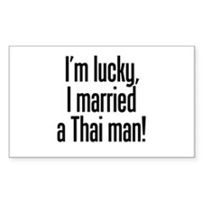 Married a Thai Man Rectangle Decal