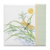 Dragonfly in rice field Drink Coasters