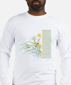 Dragonfly in Rice Field Long Sleeve T-Shirt