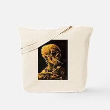 Cute Van gogh skull Tote Bag