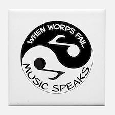 Music speaks Tile Coaster