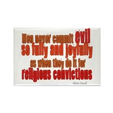 Religious Convictions Rectangle Magnet (10 pack)