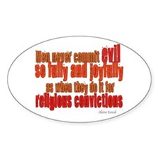 Religious Convictions Oval Decal
