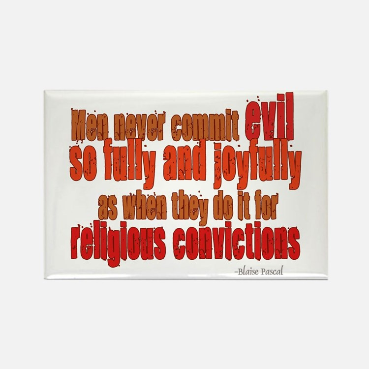 Religious Convictions Rectangle Magnet