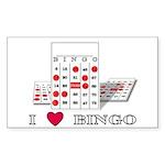 BINGO ADDICT Rectangle Sticker