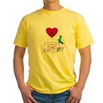 BINGO ON BOTH SIDES Yellow T-Shirt