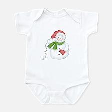 Snowman with Lights Infant Bodysuit