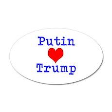 Putin Loves Trump Wall Decal