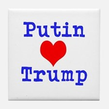Putin Loves Trump Tile Coaster