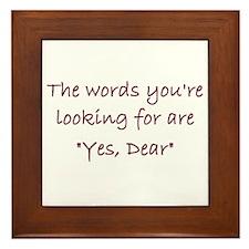 Yes Dear Framed Tile
