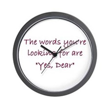 Yes Dear Wall Clock