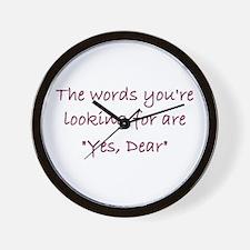 Yes Dear Wall Clock