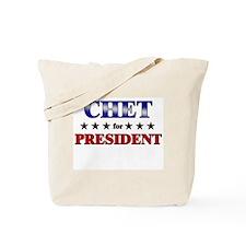 CHET for president Tote Bag