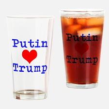 Putin Loves Trump Drinking Glass