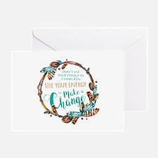 Make a Change Wreath Greeting Card
