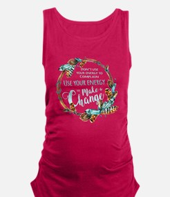 Make a Change Wreath Maternity Tank Top