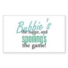 Bubbie's the Name! Rectangle Decal