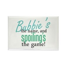 Bubbie's the Name! Rectangle Magnet (100 pack)