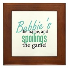 Bubbie's the Name! Framed Tile
