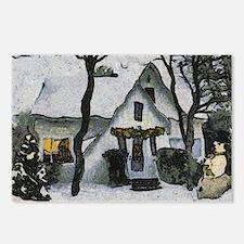 Cute Van gogh christmas Postcards (Package of 8)
