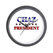 CHAZ for president Wall Clock