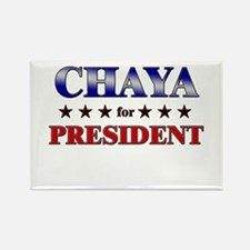 CHAYA for president Rectangle Magnet
