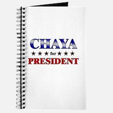 CHAYA for president Journal