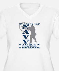 Son-n-Law Fights Freedom - NAVY T-Shirt