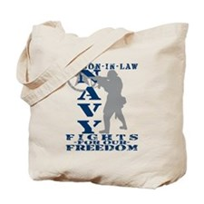 Son-n-Law Fights Freedom - NAVY Tote Bag