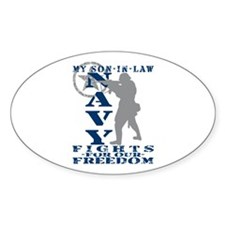 Son-n-Law Fights Freedom - NAVY Oval Decal