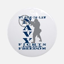 Son-n-Law Fights Freedom - NAVY Ornament (Round)