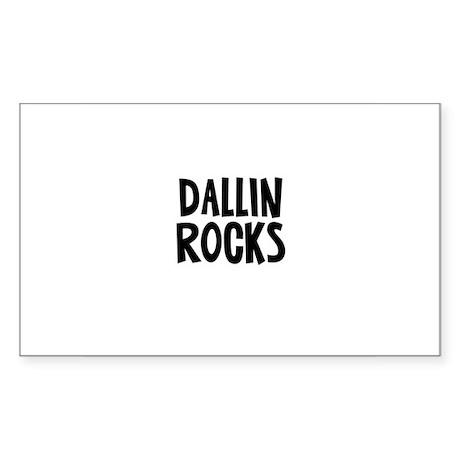 Dallin Rocks Rectangle Sticker