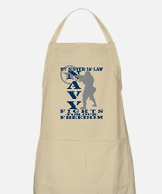 Sis-n-Law Fights Freedom - NAVY BBQ Apron