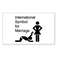 Symbol for Marriage Rectangle Decal