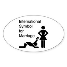 Symbol for Marriage Oval Decal