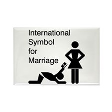Symbol for Marriage Rectangle Magnet