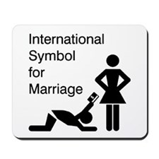 Symbol for Marriage Mousepad