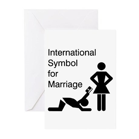 Symbol for Marriage Greeting Cards (Pk of 10)