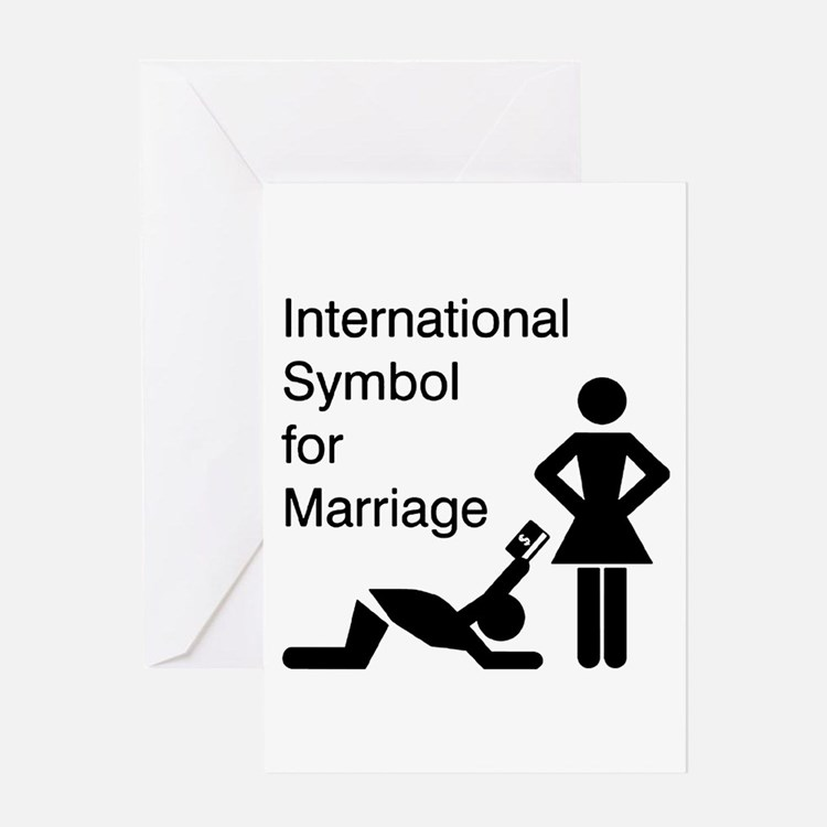 Symbol for Marriage Greeting Card