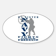 Sis Fights Freedom - NAVY Oval Decal