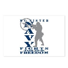 Sis Fights Freedom - NAVY Postcards (Package of 8)