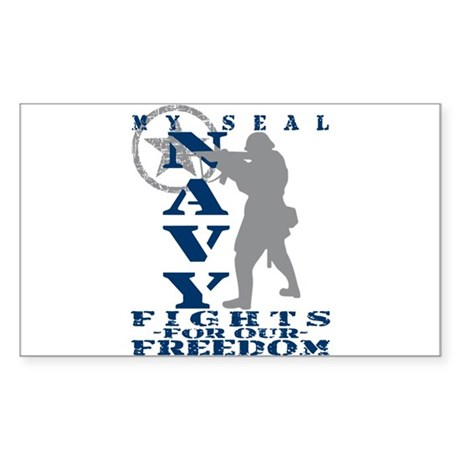 Seal Fights Freedom - NAVY Rectangle Sticker