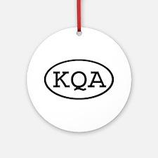 KQA Oval Ornament (Round)