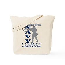 Grnddghtr Fights Freedom - NAVY Tote Bag
