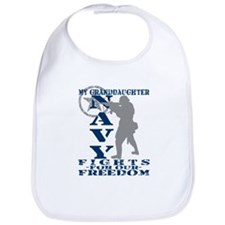 Grnddghtr Fights Freedom - NAVY Bib