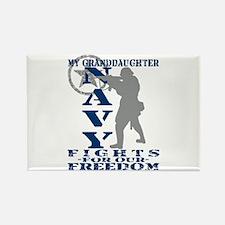 Grnddghtr Fights Freedom - NAVY Rectangle Magnet