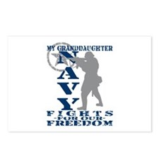 Grnddghtr Fights Freedom - NAVY Postcards (Package
