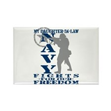 Dghtr-n-Law Fights Freedom - NAVY Rectangle Magnet