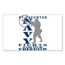 Dghtr Fights Freedom - NAVY Rectangle Decal